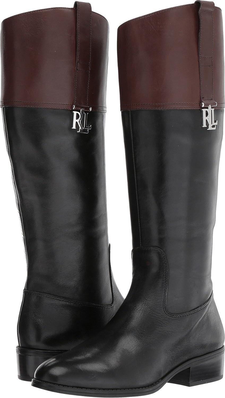 Lauren by Ralph Lauren Women's Merrie Fashion Boot B071NTMT2W 7 M US|Black 001