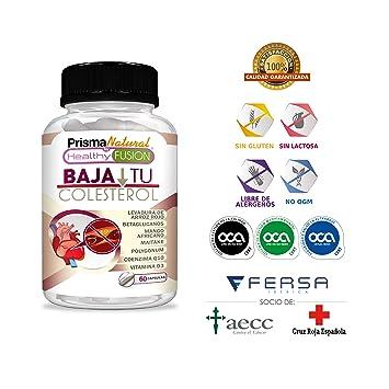 BAJA TU COLESTEROL – Reduce los Niveles de Colesterol LDL y Aumenta El Nivel HDL – Formula Completa – Levadura Arroz Rojo + Coenzima Q10 + Resveratrol ...