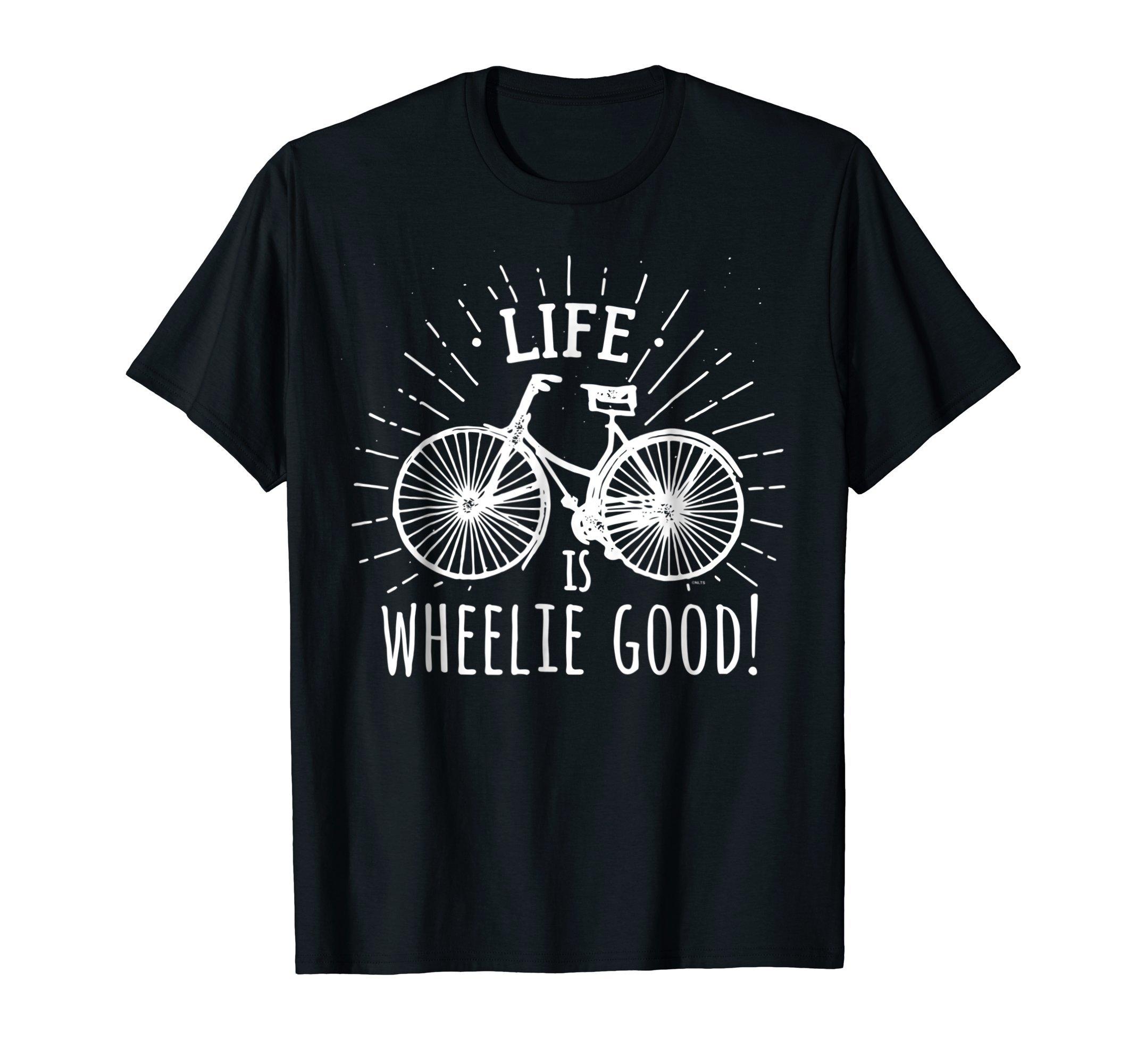 Life-is-wheelie-good-Bicycle-T-Shirt-Tee-Shirt-Gift-Pun