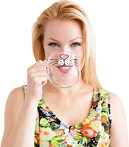 The Original Cat Beard Mug - Cute and Funny Glass Coffee Mug by Nacisse