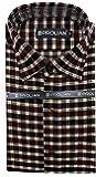 STC Men's Red Woolen Checkered Cottswool Winter Wear Full Sleeves Regular Fit Formal Shirt 0124