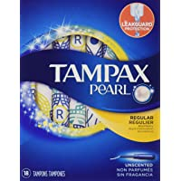 Tampax Pearl Regular Plastic Tampons - 18 Count (Unscented)