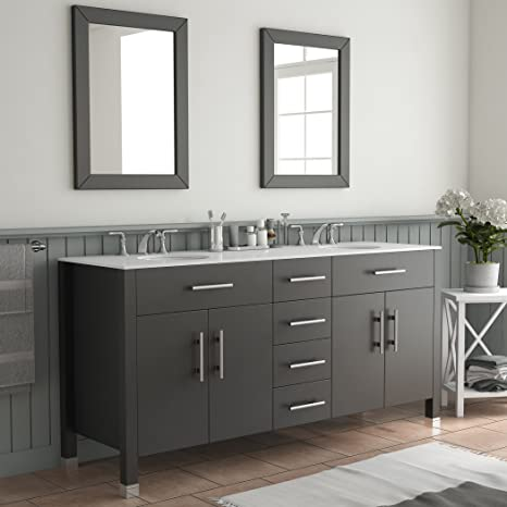 Cool 72 Inch Espresso Double Basin Sink Bathroom Vanity Set Warren Download Free Architecture Designs Barepgrimeyleaguecom