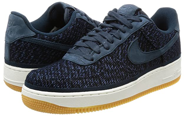 Amazon.com | Nike Mens Air Force 1 07 Indigo Armory Navy/Ankle-High Cotton Fashion Sneaker - 10.5M | Basketball