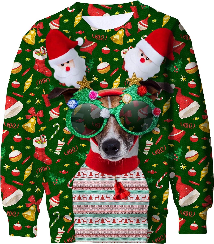 Kids Christmas Sweater Winter Fleece Knitwear Sweatshirt Pullover Warm Outwear 3-4 Years