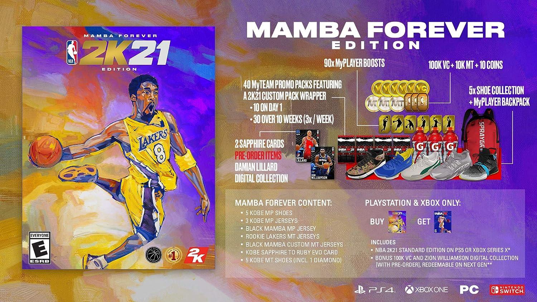Amazon Com Nba 2k21 Mamba Forever Edition Playstation 4 Take 2 Interactive Take 2 Video Games