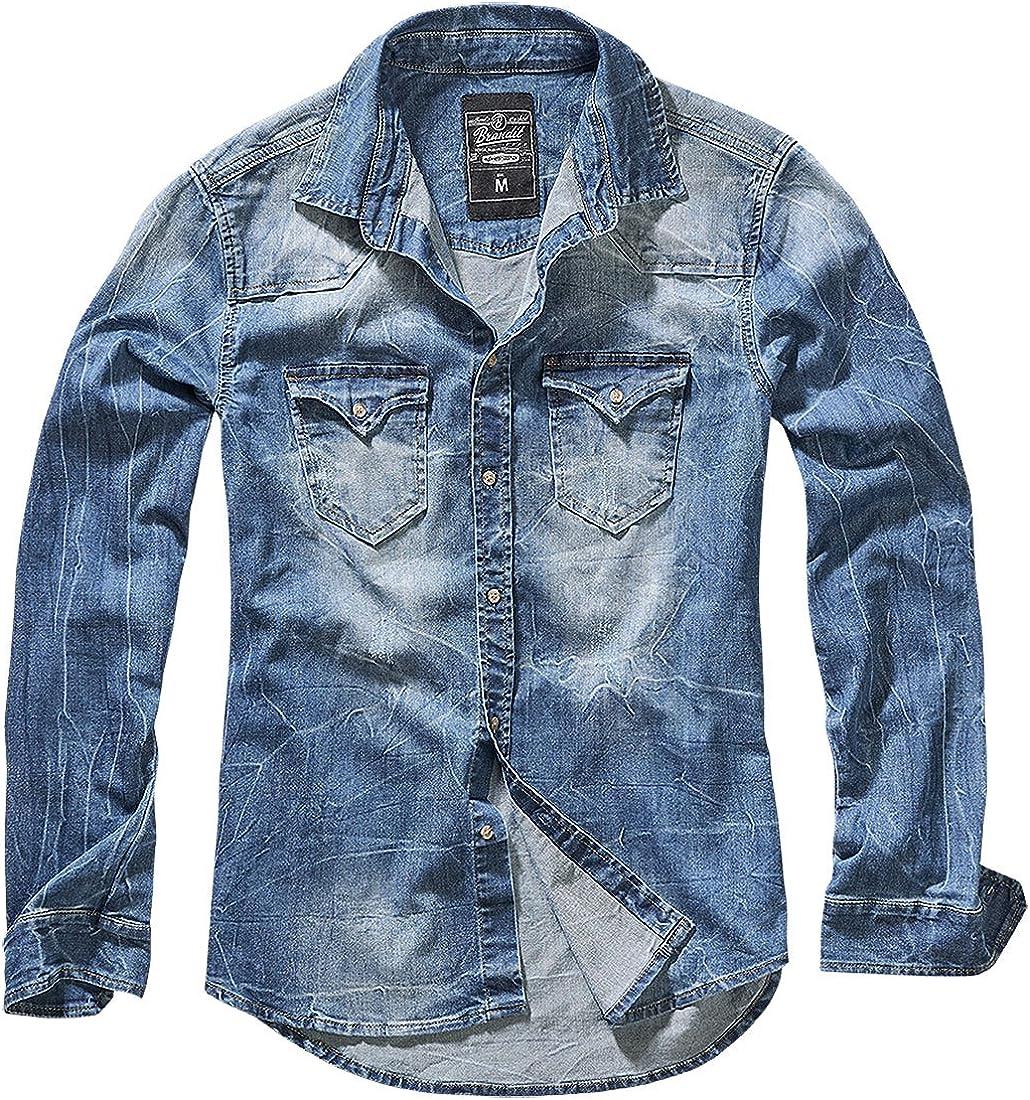 Brandit Riley Denimshirt Camicia di Jeans Uomo