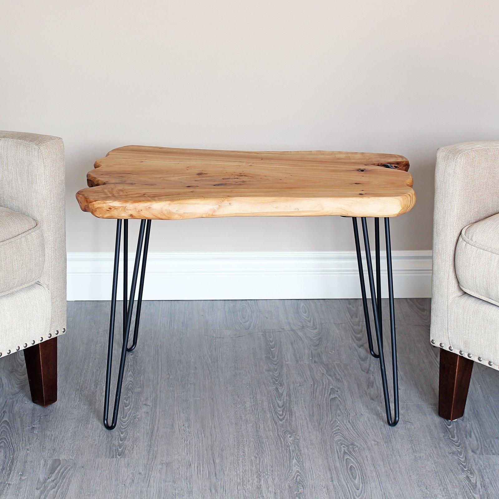 WELLAND Cedar Live Edge Hairpin Coffee Table 28'' L x 20'' W x 20.5'' T by WELLAND (Image #3)
