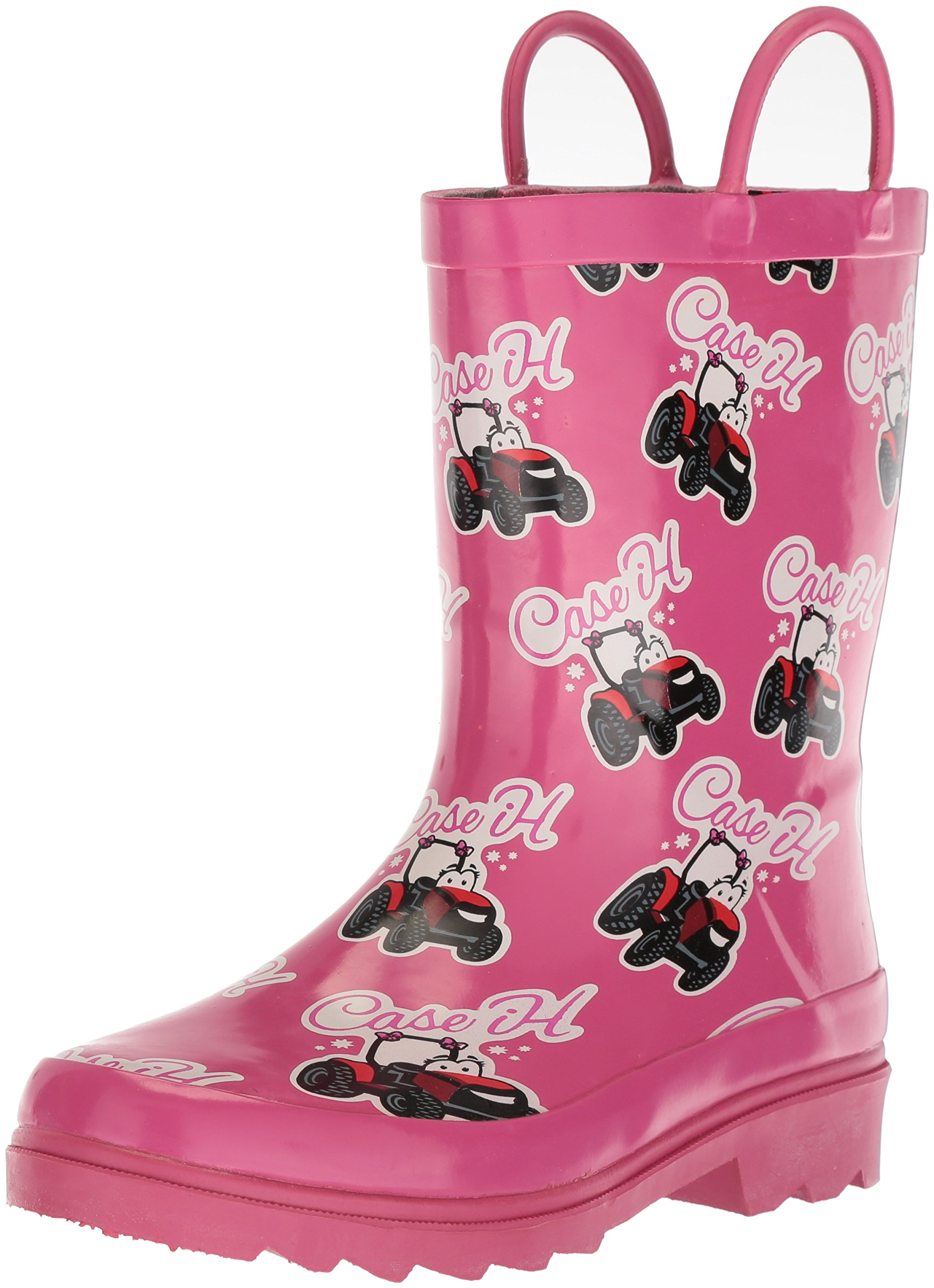 AdTec Kids Waterproof Rubber Easy-On Handle's CI-4002 Rain Boot, Pink, 12 M US