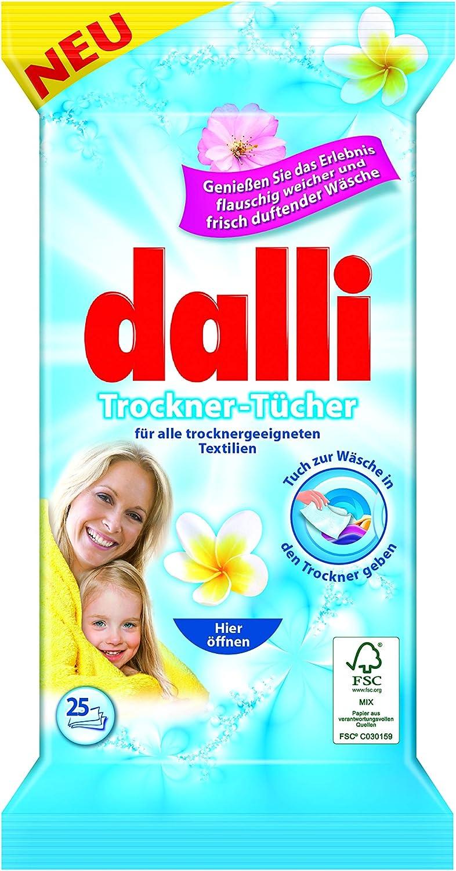 Dalli Las hojas de secado secadora disfrutan de la experiencia del lino perfumado suave y fresco mullido (1x25)