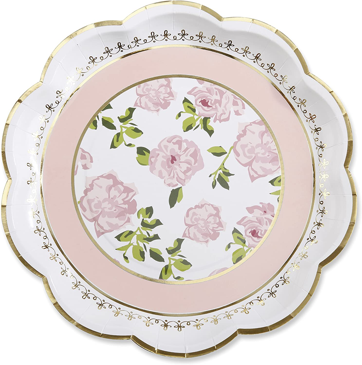 """48 PERSONALIZED desert 6.75/"""" dia heavy duty paper plates printed in 24 hours"""