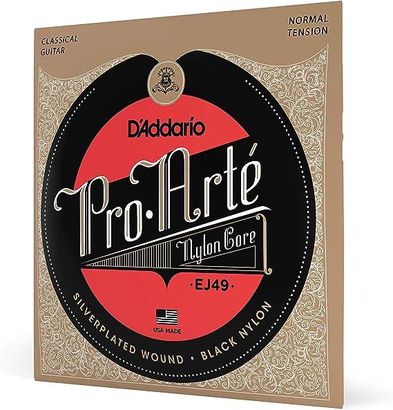 D'Addario EJ49 Pro-Arte Black Nylon Classical Guitar Strings