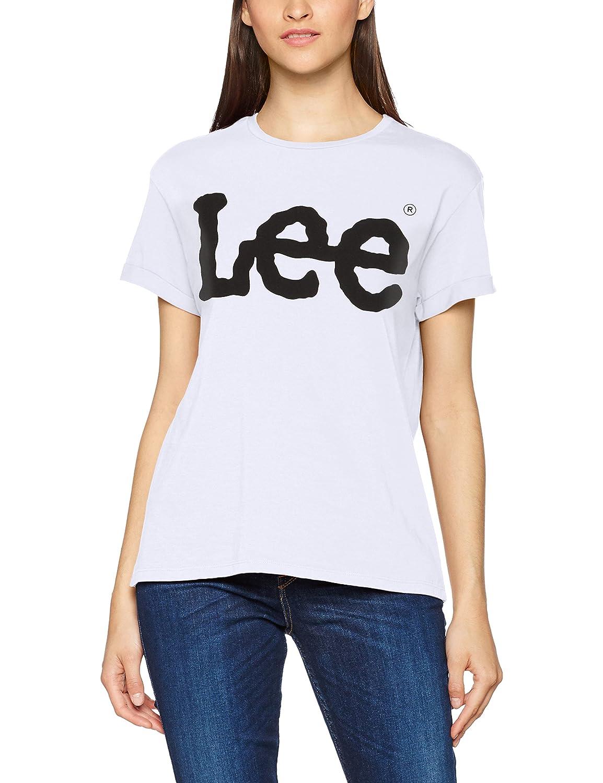 TALLA XS. Lee Logo tee Camiseta para Mujer