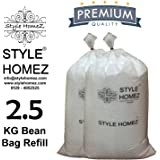 Style Homez 2.5 Kg Premium Bean Bag Refill for Bean Bags