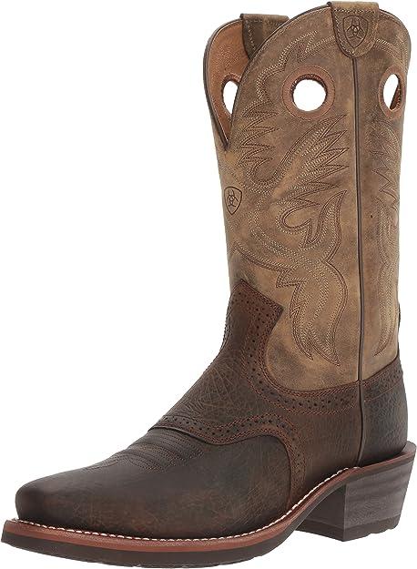 ARIAT pour Homme 2227 Bottes de Cowboy, Marron huilé Rowdy