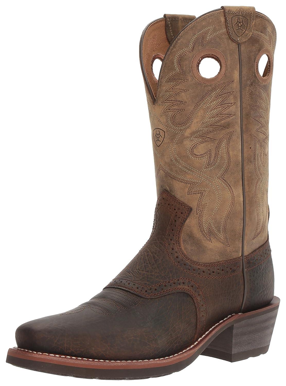 86cd9872c25 Ariat Men's Heritage Roughstock Western Cowboy Boot, Earth/Brown Bomber,  9.5 D