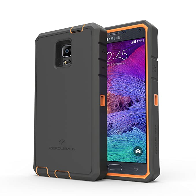 big sale 1594f ecc8b Samsung Galaxy Note 4 Rugged Case,Zerolemon ZeroShock Rugged Case + Belt  Clip [Battery NOT Included] (Fits All Versions of Galaxy Note 4) [180 Days  ...