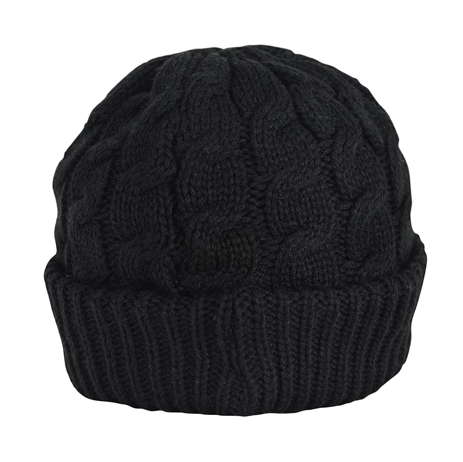 Amazon.com  Newsboy Cable Knitted Hat with Visor Bill Winter Warm Hat for  Women in Black 7d631d0042d