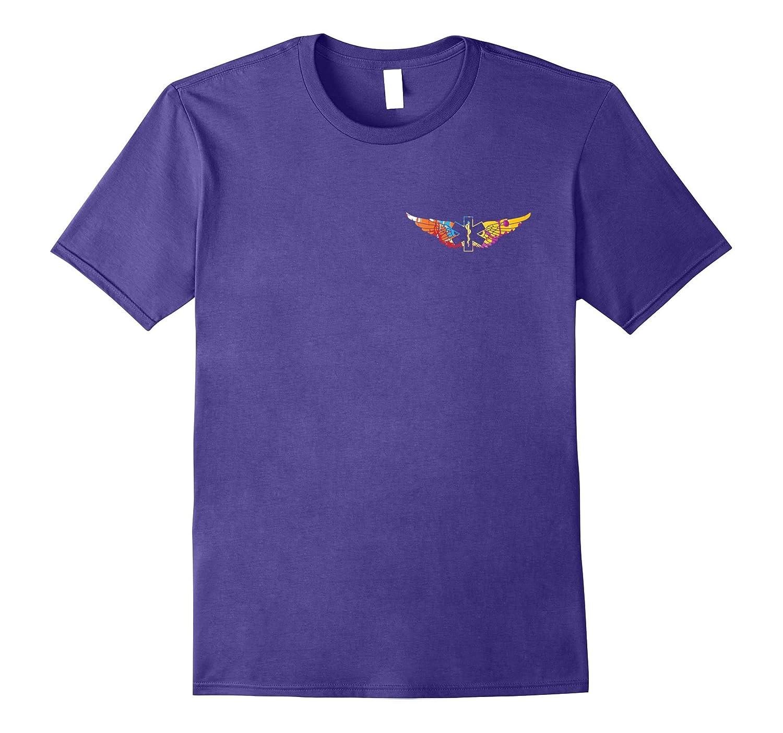Colorful EMS Flight Crew Wings T-shirt-Vaci