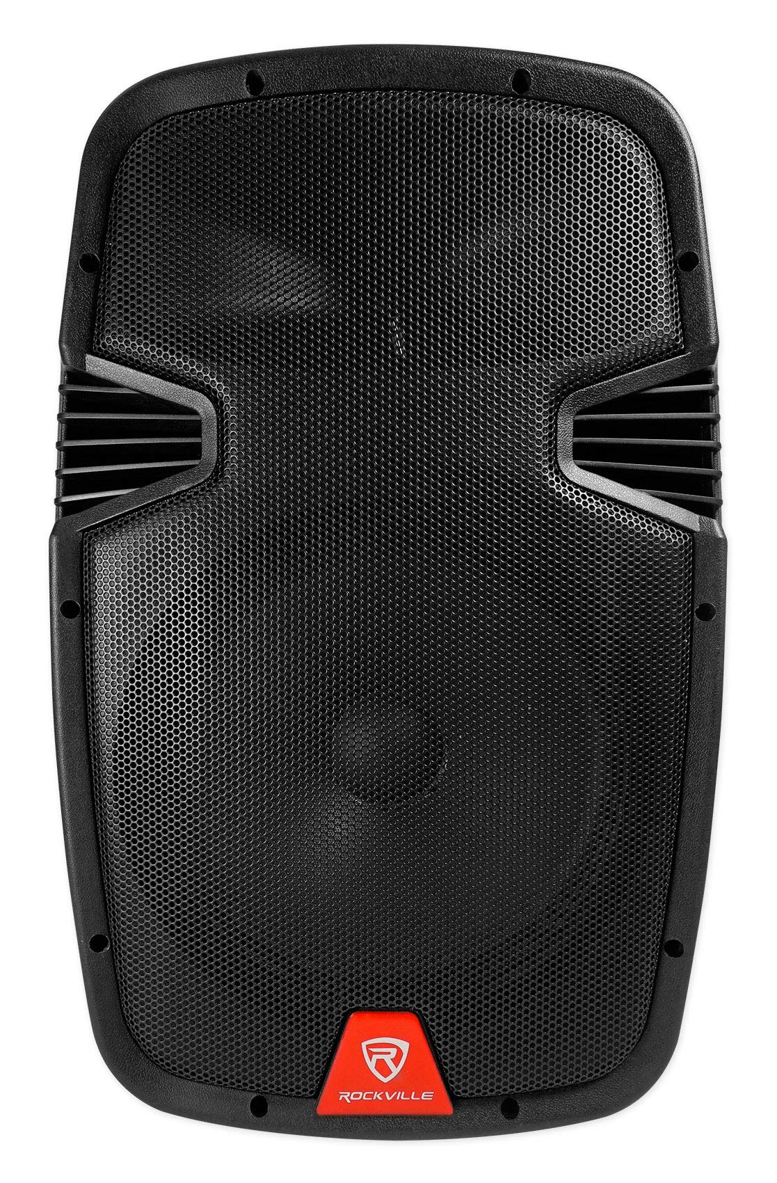 Rockville RAM12BT V2 12'' Rechargable Powered 600W DJ PA Speaker, 2 Mics, Bluetooth