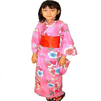 Amazon | 浴衣 女の子 帯下駄 3点セット 色柄8種類 サイズ 130/140/150 | 着物・浴衣 通販