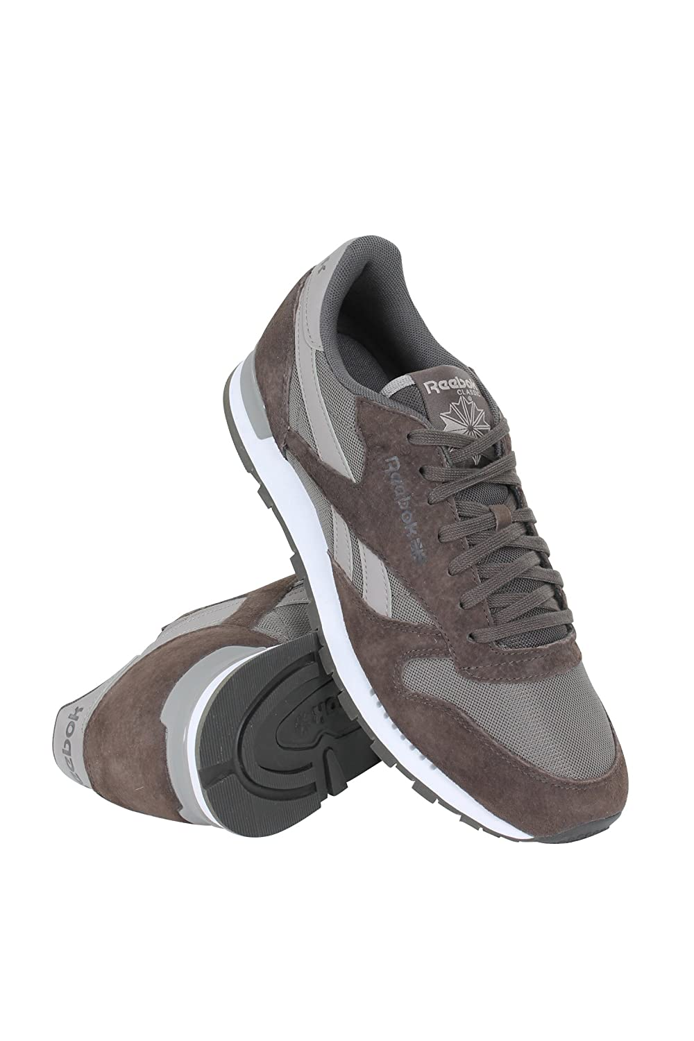 30ca115f7c714 Reebok Lifestyle Men s Classic Leather Clip ELE Cliff Stone Stone Beach  Stone Athletic Shoe  Buy Online at Low Prices in India - Amazon.in