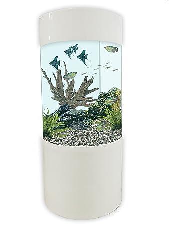 Säulenzylinder Aquarium, JY 500, 147 Liter, Weiß