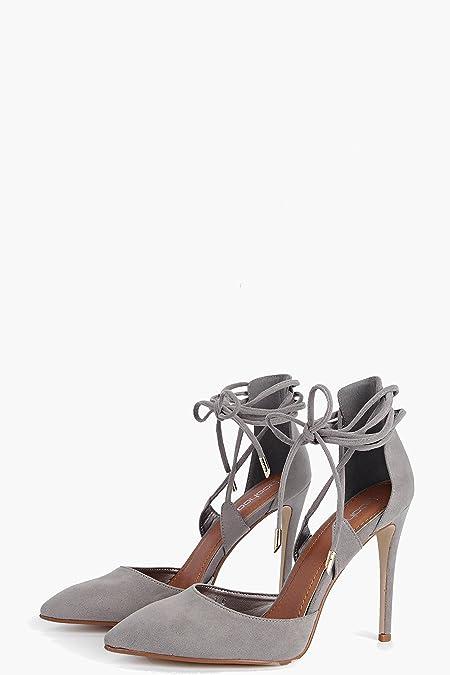 Lucy Spitze High-Heels mit Pfennigabsatz und gewickelten Riemchen bH33RDYK