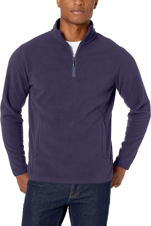 Amazon Essentials Quarter-Zip Polar Fleece Jacket Hombre