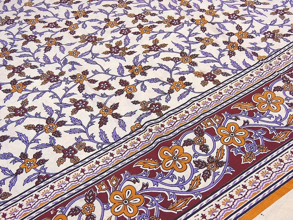Ethnic Decor Cotton Duvet India Inspired Bedding Floral Paisley Reversible Style ~ Queen by NovaHaat (Image #3)