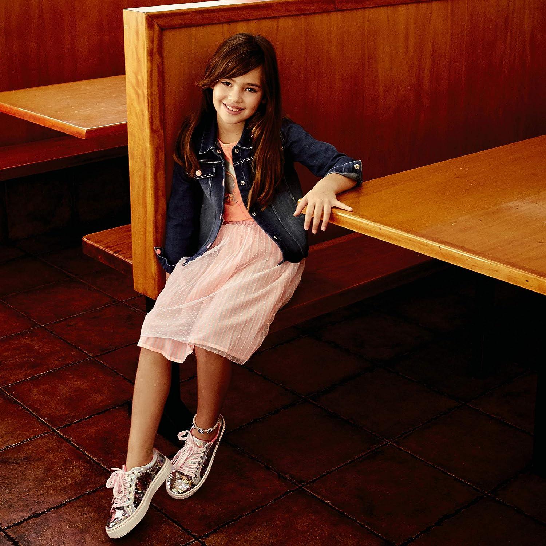 Billieblush Veste en Denim Motif Sequins Enfant