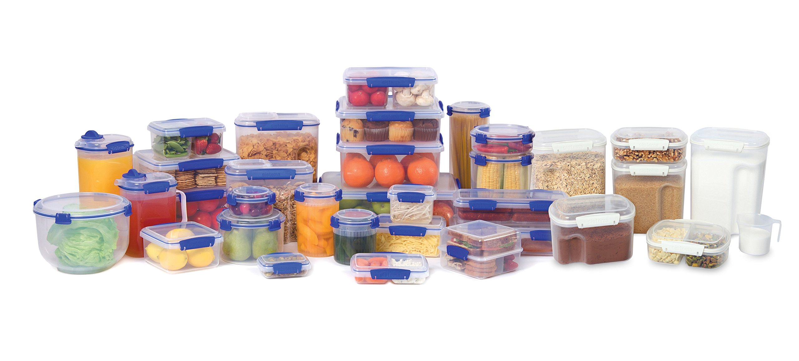 Sistema KLIP IT Collection Sandwich Box Food Storage Container, 15.2 oz./0.4 L, Clear/Blue, 3 Count by Sistema (Image #4)