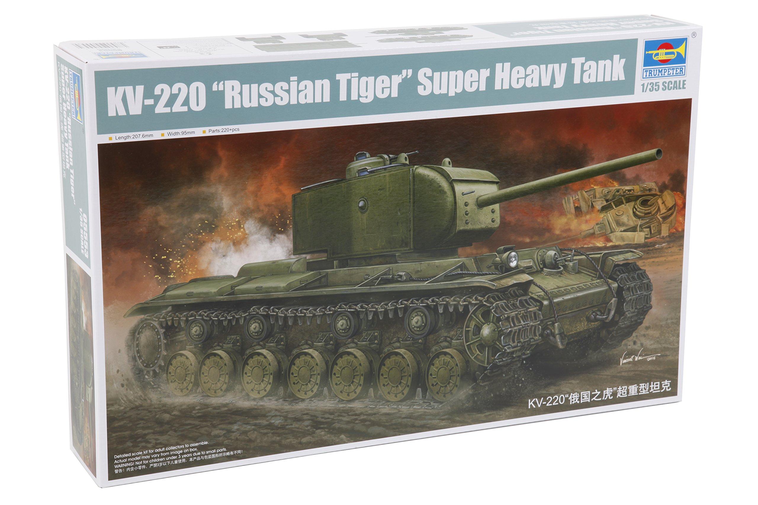 Trumpeter Kv-220 -Russian Tiger- Super Heavy Tank 1/35 Armor Model Kit