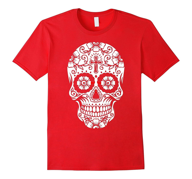 Sugar Skull Day of the Dead Halloween T-Shirt Tee Shirt-TD