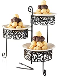 Amazon Com Tiered Trays Amp Platters Home Amp Kitchen