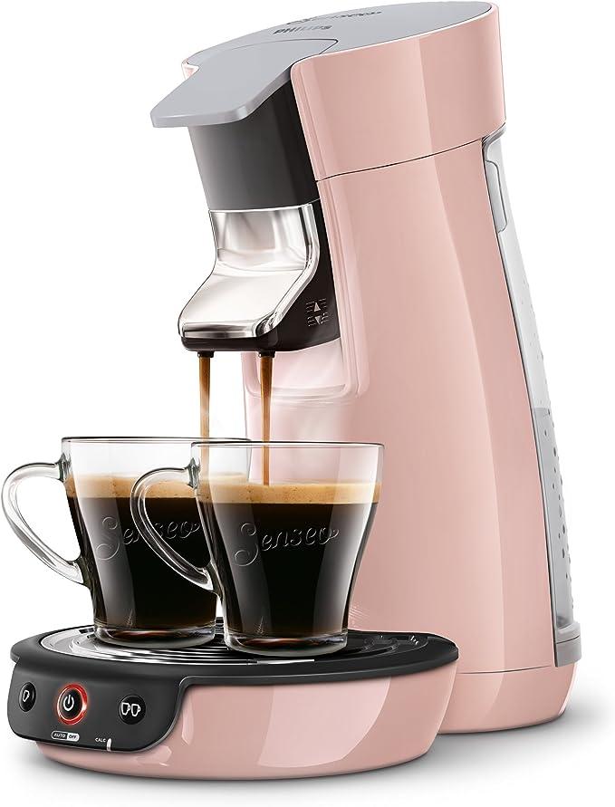 Senseo Viva Café HD7829/30 - Cafetera (Independiente, Máquina de café en cápsulas, 0,9 L, Dosis de café, 1450 W, Rosa): Amazon.es: Hogar