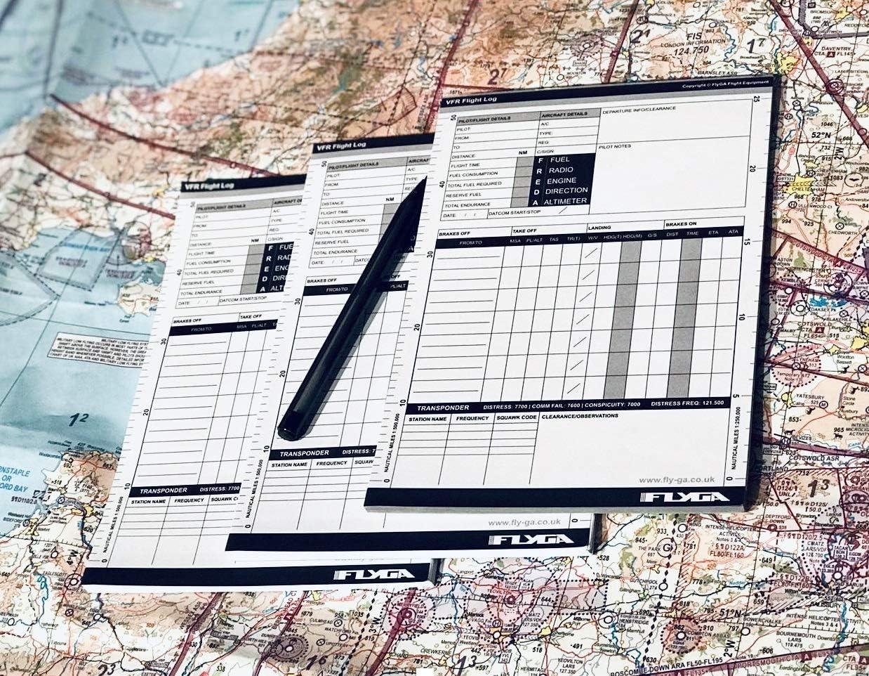A5 VFR Pilot Log Pad (vuelo Plog libro) [3 unidades] – para PPL (un), lapl, PPL (H) & CPL pilotos de aviación...: Amazon.es: Deportes y aire libre