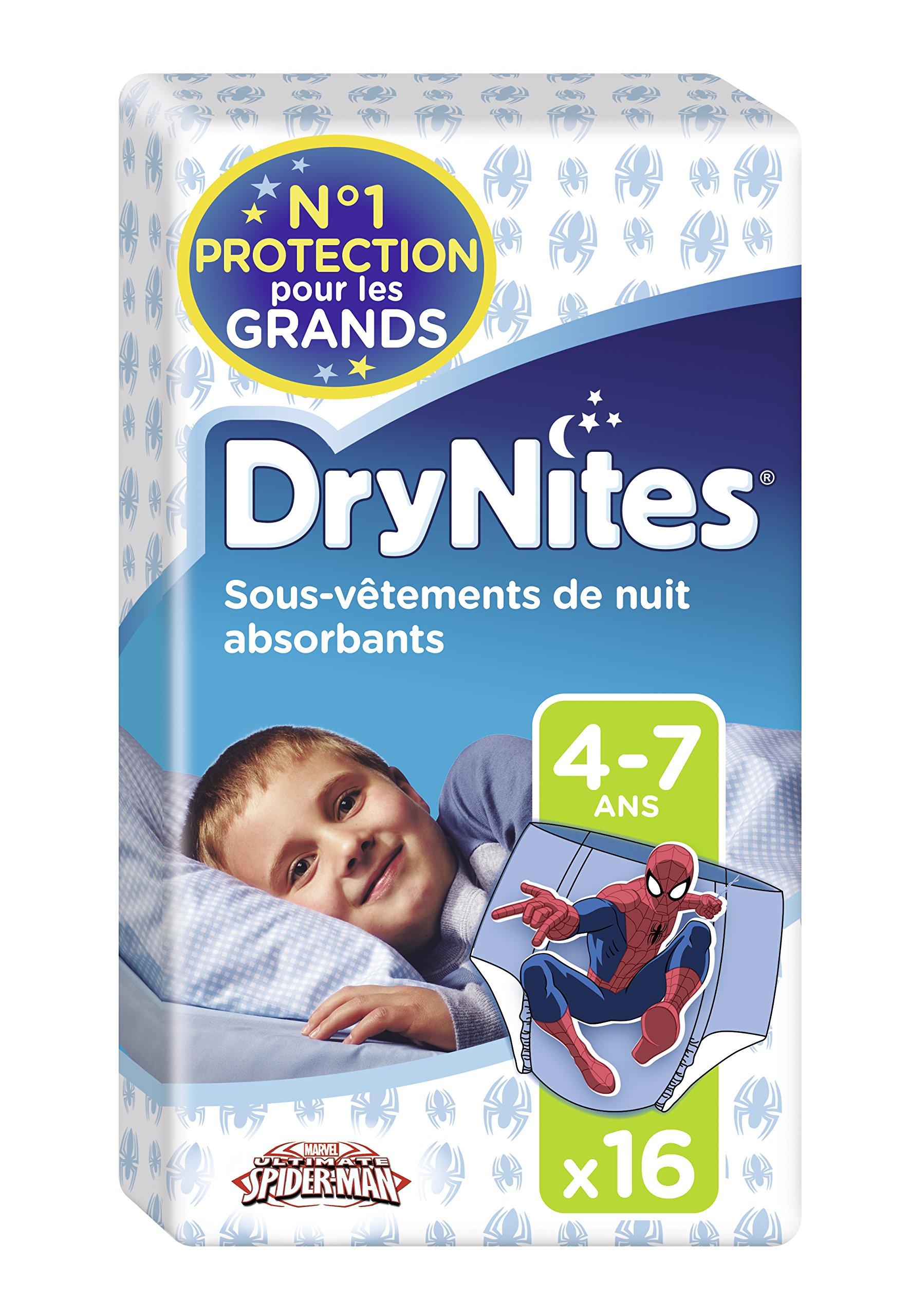 Huggies DryNites Calzoncillos Absorbentes para Niños, 4-7 Años (17 - 30 Kg
