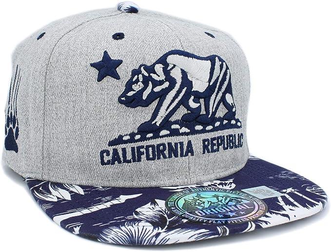 LAFSQ República de California bordada con gorra de snapback ...