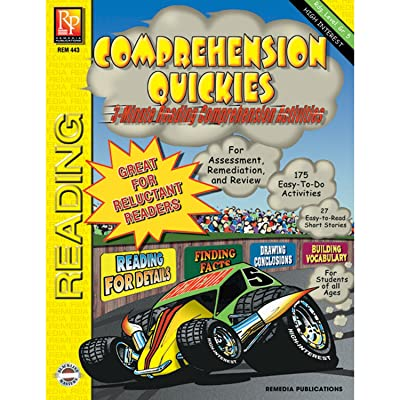 REMEDIA PUBLICATIONS Quickies Reading Level 5 Multicolor Book Comprehension Workbook: Remedia: Toys & Games