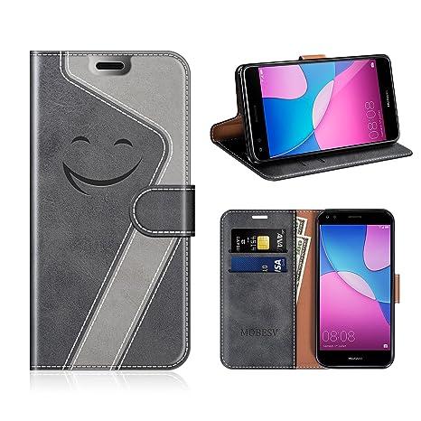 MOBESV Smiley Funda Cartera Huawei Y6 Pro 2017 Magnético ...