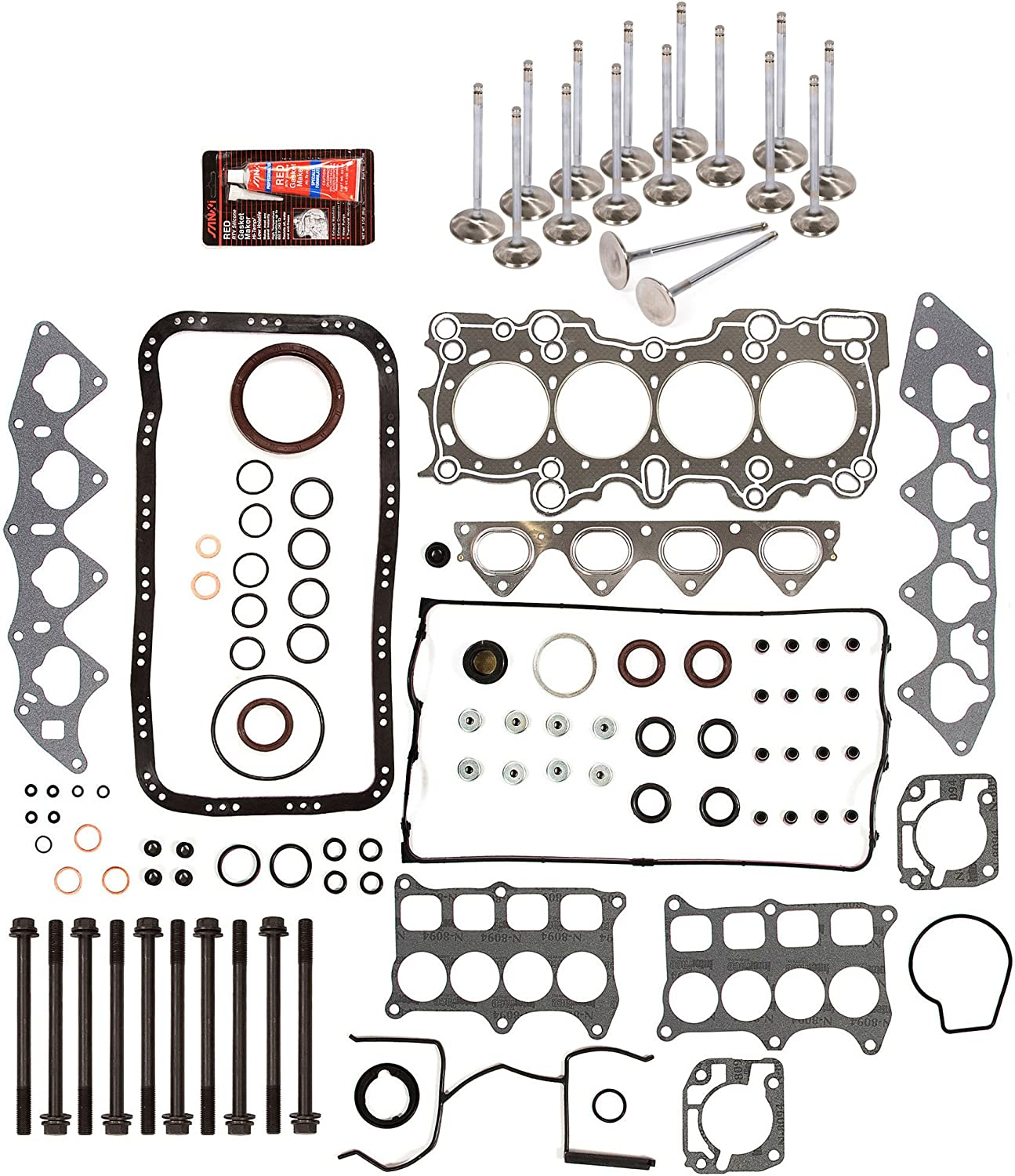 94-97 Honda Del Sol 1.6L VTec B16A3 DOHC FULL GASKET SET *RE-RING KIT*