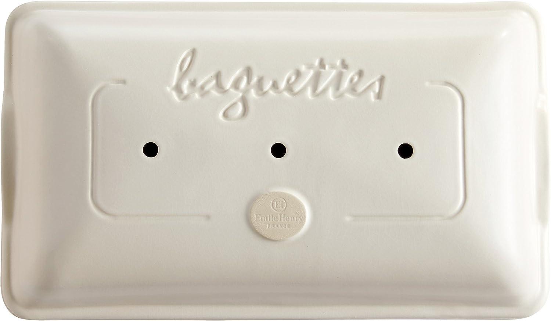 Lin Emile Henry EH509506 Moule Baguettes C/éramique 39,5 x 23 x 10 cm