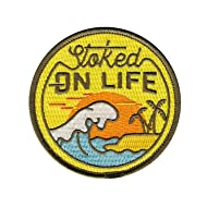Asilda Store Stoked on Life Iron-on Embroidered Patch
