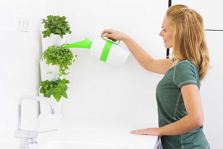 Corner Home Gardens Modulaire /& Extensible Syst/ème Innovant de Drainage Noir Minigarden Corner 1 Set pour 3 Plantes Autoportant ou Fix/é au Mur Long Cycle de Vie