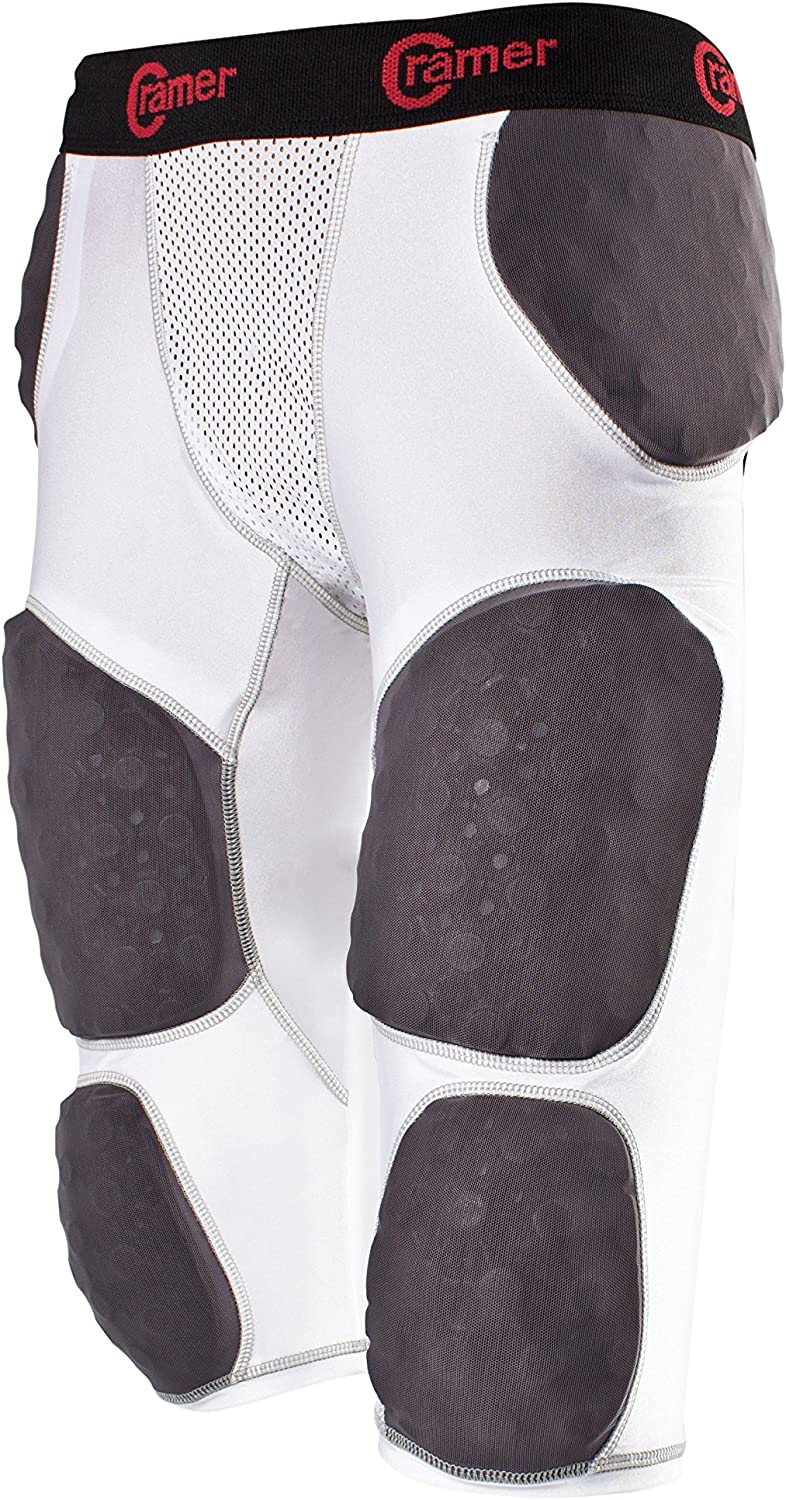 Cramer Lightning 7 Pad Football Girdle With Integrated Hip, Tail, Thigh and Knee Pads