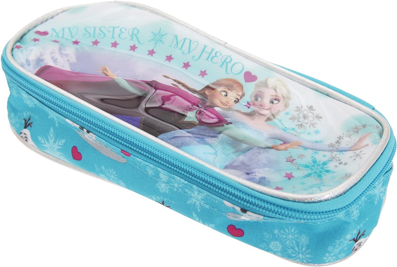 Disney Frozen Estuche oficial para lapiceros y bolígrafos Modelo Double para niñas (22 x 9 x 22cm/Azul): Amazon.es: Ropa y accesorios