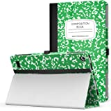 MoKo Case for Fire 2015 7 inch - Slim Folding Cover for Amazon Fire Tablet (7 inch Display - Previous 5th Generation, 2015 Release Only), Notebook GREEN