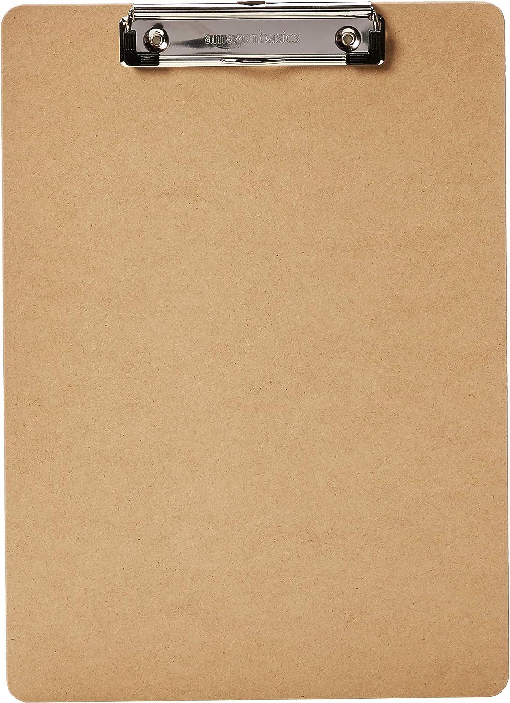 AmazonBasics Hardboard Office Clipboard - 6-Pack