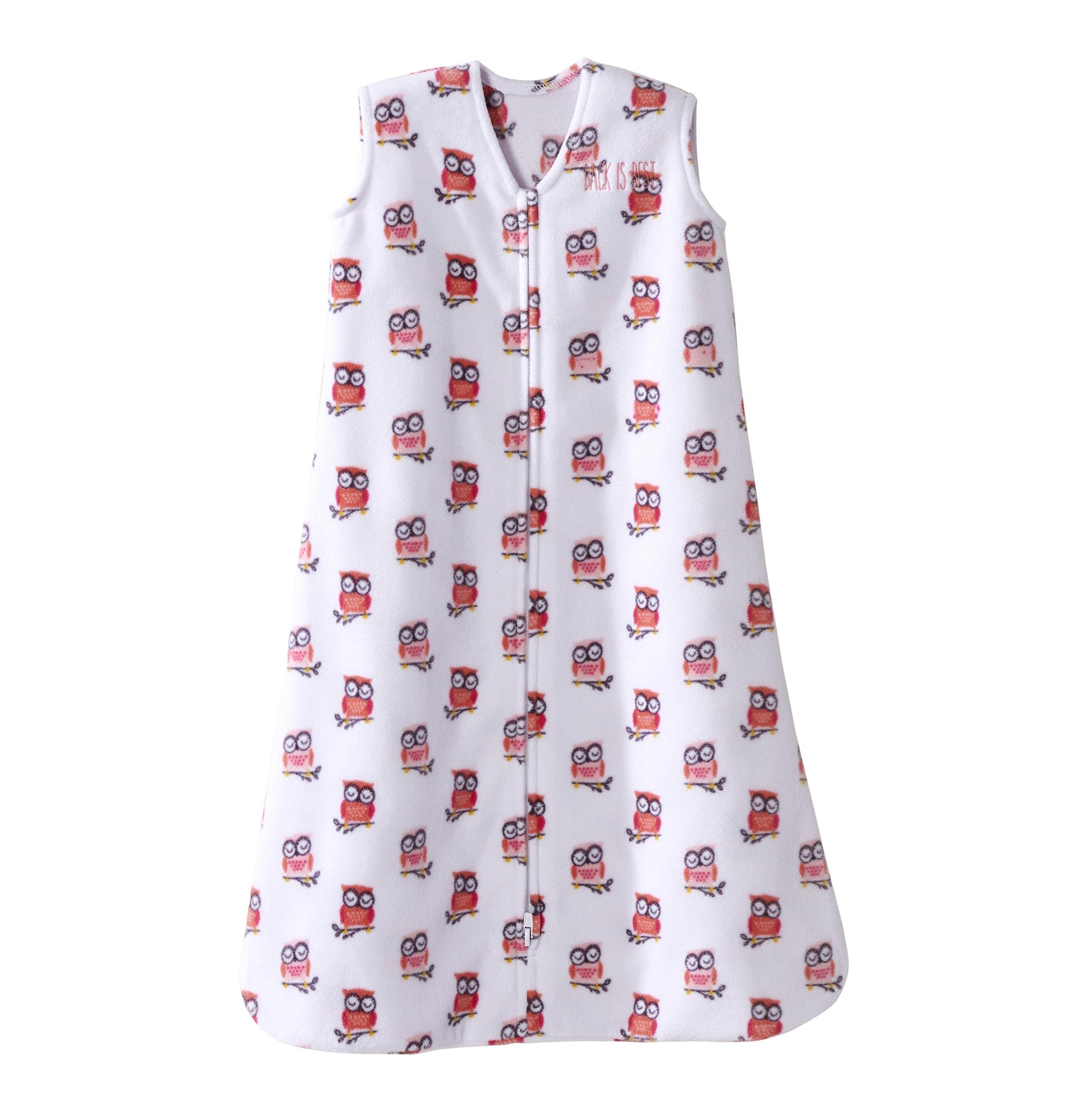 Halo SleepSack Micro-Fleece Wearable Blanket, Pink Owl, Large